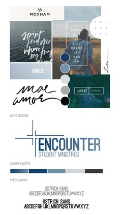 Freelance design job for Encounter Student Ministry. Project included creating a logo and branding package that would attract high school age students as well as their parents.