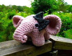 Ellie the Amigurumi Elephant by WyandotteWears on Etsy, $16.50