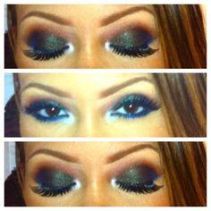 love it!  @Evelyn Lozada Johnson lockerz.com/s/190117889 Love Makeup, Makeup Inspo, Makeup Inspiration, Makeup Looks, Make Me Up, Eye Make Up, Prom Makeup, Hair Makeup, Beauty Make Up