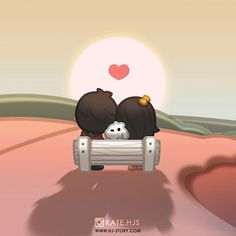 Take time to remember all the wonderful memories of 2015 ^___^ Hj Story, Love Cartoon Couple, Chibi Couple, Cute Couple Drawings, Anime Couples Drawings, Alien Drawings, Cute Love Pictures, Love Images, Cute Love Stories