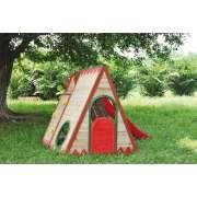 Kinderspielhaus / Indianerzelt aus Holz mit Rutsche - Chapawee