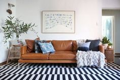 """There is a move away from disposable decor,"" says Waterman. ""Forget about buying art as a fix for a short-term, solving-a-bare-wall… Deco Design, Design Trends, Cool Furniture, Furniture Design, Ikea Rug, Living Room Inspiration, Bohemian Decor, Home Living Room, Scandinavian Design"