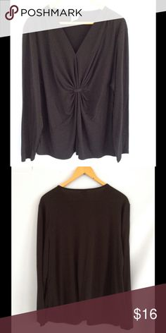 JMS Knot Front Black Top Casual black top. Excellent condition! JMS Tops