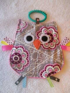 Crinkle Crackle Sensory owl Baby Toy by MBDesigns on Etsy