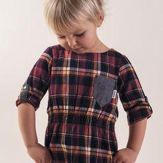 Check dress - Ebbe - Via Il Mondo di Ingrid Little Ones, Kids Outfits, Kids Fashion, Men Casual, Plaid, Pretty, Mens Tops, Clothes, Baby