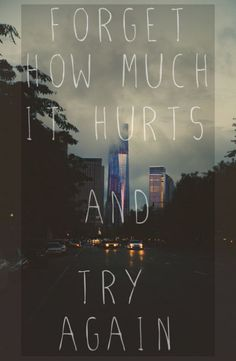 forget and try again.