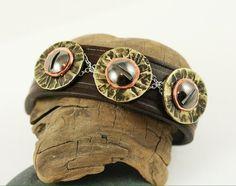 Unisex Leather Hardware Store Bracelet Cuff