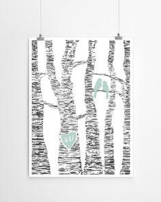 printcandy-lovebirds-poster-gepersonaliseerd-initialen