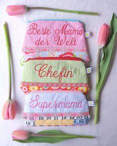 Zum Muttertag ein Schminktäschchen für die liebste Mama!