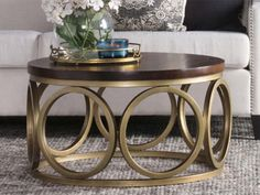 15 Brass Coffee Tables You'll Love - Cool Things to Buy 247 Coffee Tables For Sale, Coffee Table Rectangle, Brass Coffee Table, Coffee Table Styling, Glass Top Coffee Table, Table Decor Living Room, Fun Cup, All Modern, Cool Things To Buy