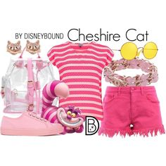 DisneyBound is meant to be inspiration for you to pull together your own outfits which work for your body and wallet whether from your closet or local mall. As to Disney artwork/properties: ©Disney Modern Disney Outfits, Disney Bound Outfits, Alice In Wonderland Outfit, Wonderland Costumes, Disney Dress Up, Disney Clothes, Chesire Cat, Disneyland Outfits, Disney Cats