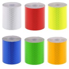Radient Flash Deal Colorful Reflective Tapes Glow Self-adhesive Sticker Luminous Fluorescent Glowing Tapes Dark Striking Warning Tape Back To Search Resultssecurity & Protection Reflective Material