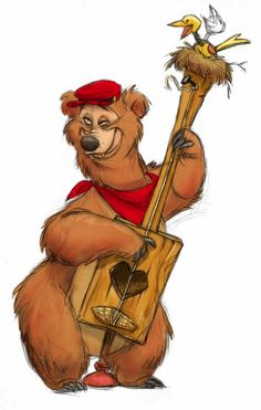 Country Bear Jamboree by jeff merghart on ArtStation. Cartoon Kunst, Cartoon Drawings, Cartoon Art, Animal Drawings, Cartoon Characters, Disney Kunst, Disney Art, Character Concept, Character Art
