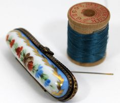 Limoge porcelain needle case by Peppermint Pinwheels via Flickr