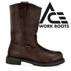 Opentip.com: Shoes For Crews 8307 Bronco, Slip-Resistant Shoes, ACE Work Boots, Black