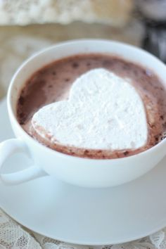 Homemade Marshmallows and Sweet Ideas to Decorate for Valentine's Day, Valentine's day Hot Chocolate in 2014