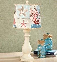 Nautical lamp shade,lampshade,vintage shabby chic Bathroom Seaside