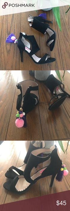 Betsy Johnson black suede sandals size 8.5 Brand new suede Betsey Johnson sandals size 8.5. No box Betsey Johnson Shoes Sandals
