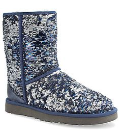 UGG® Australia Classic Short Sparkles Boot my friend has these they look amazing with jeans