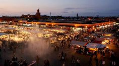 Marrakech by night - place Jamaa El Fna