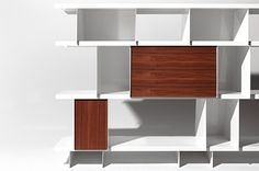 Shelving Unit with wood panel