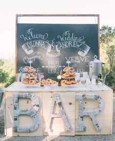 Coffee bars are a must for a morning wedding!