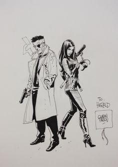 Black Widow & Nick Fury - Goran Parlov