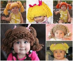 DIY Crochet Cabbage Patch Doll Inspired Hat