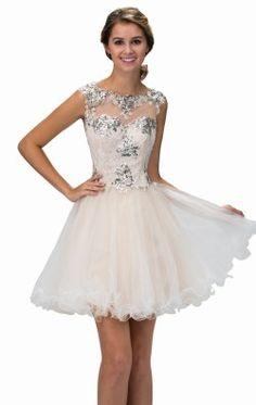Beaded Lace Tulle Dress by Elizabeth K GS2161X