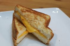 Grilled Cheese Sandwich Recipe | In The Kitchen With Matt Perfect Grilled Cheese, Making Grilled Cheese, Grill Cheese Sandwich Recipes, Grilled Cheese Recipes, Grilling Recipes, Snack Recipes, Snacks, Sandwich Pictures, Homemade White Bread