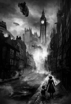 iQiOi Co. is raising funds for Blackmore: A Steampunk Adventure Game on Kickstarter! Japanese adventure game set in steampunk London, created by Japanese and US game industry veterans in a rich style. Fantasy World, Dark Fantasy, Gothic Fantasy Art, Steampunk Kunst, Steampunk City, Steampunk Drawing, Victorian Steampunk, Victorian Fashion, Graffiti Kunst