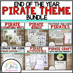 End Of The Year Pirate Theme Bundle by Primary Playground | TpT