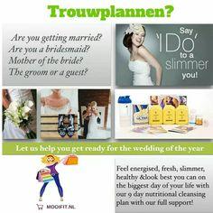 Ga je trouwen of naar een feestje en wil je nog net even die paar kilootjes kwijt? Doe dan de Clean 9: je reinigt je lichaam en krijgt meer energie in 9 dagen. Bijkomend voordeel is dat je een  paar kilo verliest.