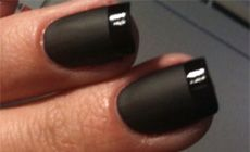 Just perfect for me, matte black perfect for me and a splash of shine for the girlie side.