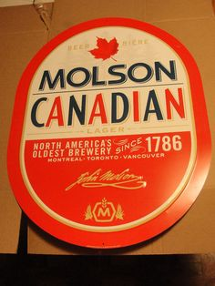 Molson Canadian - My Favorite Beer Canadian Beer, Canadian Things, I Am Canadian, Canadian Food, Canadian History, Clever Advertising, Advertising Signs, More Beer, Wine And Beer