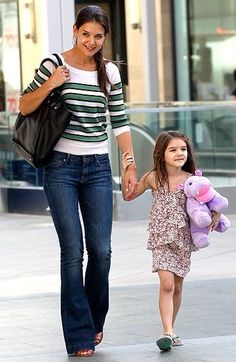 Katie Holmes with daughter Suri Cruise #GotItFromMyMama