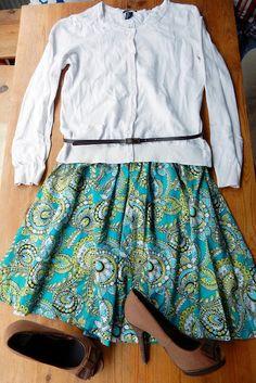 VillaNanna: Helppo ja nopea muokkaus mekosta hameeksi ja topiksi