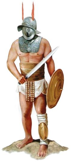 10 Things You May Not Know About Roman Gladiators Gladiator Games, Gladiator Armor, Gods Of The Arena, Roman Gladiators, Marshal Arts, Roman Warriors, Classical Antiquity, Roman Soldiers, Military Figures