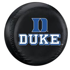 Duke Blue Devils NCAA Spare Tire Cover Standard Black