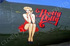 Image detail for -NA 00010 Nose art on Bell P-63 King Cobra -- Pretty Polly, by Peter J ...