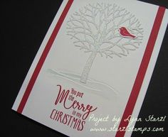 Stampin'Up! Thoughtful Branches stamp set, Beautiful Branches thinlits…