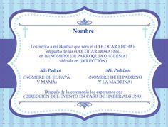 formato para invitaciones de bautizo invitaciones bautizo fotos ideas para