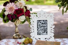 Chalkboard wedding guest book sign | Ashley Gerrity Photography