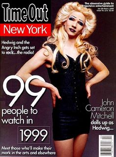 """John Cameron Mitchell as """"Hedwig"""" on the cover of Time Out New York, 1999."""