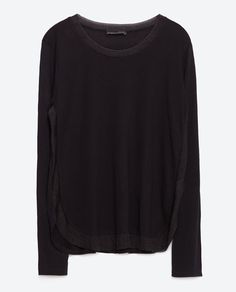 Image 8 of TOP WITH SIDE STRIPE from Zara
