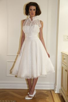 Fancy Bridal: For the bride channeling Megan in Mad Men. #wedding #gown