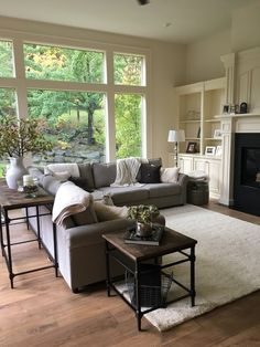 Fantastic small living room designs are offered on our site. Check it out and you wont be sorry you did. Living Room Windows, Home Living Room, Living Room Furniture, Living Room Designs, Furniture Sets, Living Room Remodel, Sunk In Living Room, Living Room Layout With Fireplace And Tv, Living Room With Sectional