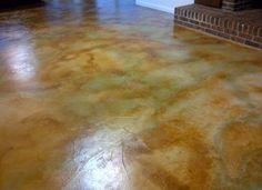 Old Basement Remodel Concrete Floors Acid Stain 18 Trendy Ideas Acid Stained Concrete Floors, Concrete Basement Floors, Acid Concrete, Basement Flooring Options, Concrete Overlay, Concrete Color, Diy Flooring, Concrete Countertops, Stain Concrete