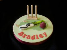 Cricket Cake Topper by Cakes-by-Louise, via Flickr Cricket Theme Cake, Sports Themed Cakes, Dad Cake, Sport Theme, Cupcake Cakes, Cupcakes, Sport Cakes, Theme Cakes, Character Cakes