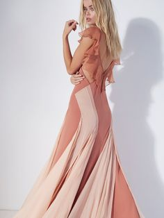 FP Limited Edition Terra Cotta Jill C's Limited Edition Maxi Dress at Free People Clothing Boutique Pretty Little Dress, Little Dresses, Maxi Gowns, Evening Dresses, Dress Suits, Dress Up, Sheer Chiffon, Street Style Looks, Free People Dress